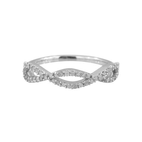 9K White Gold SGL Certified Diamond (Rnd) (I3/G-H) Infinity Ring 0.330 Ct.