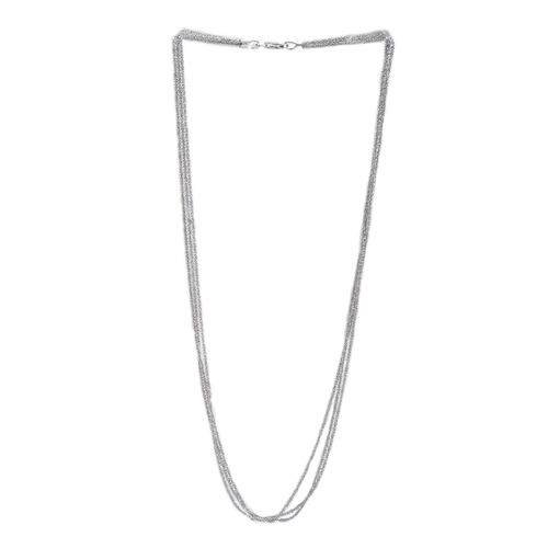 Close Out Deal Sterling Silver 3 Strands Chain (Size 20), Silver wt 6.90 Gms.