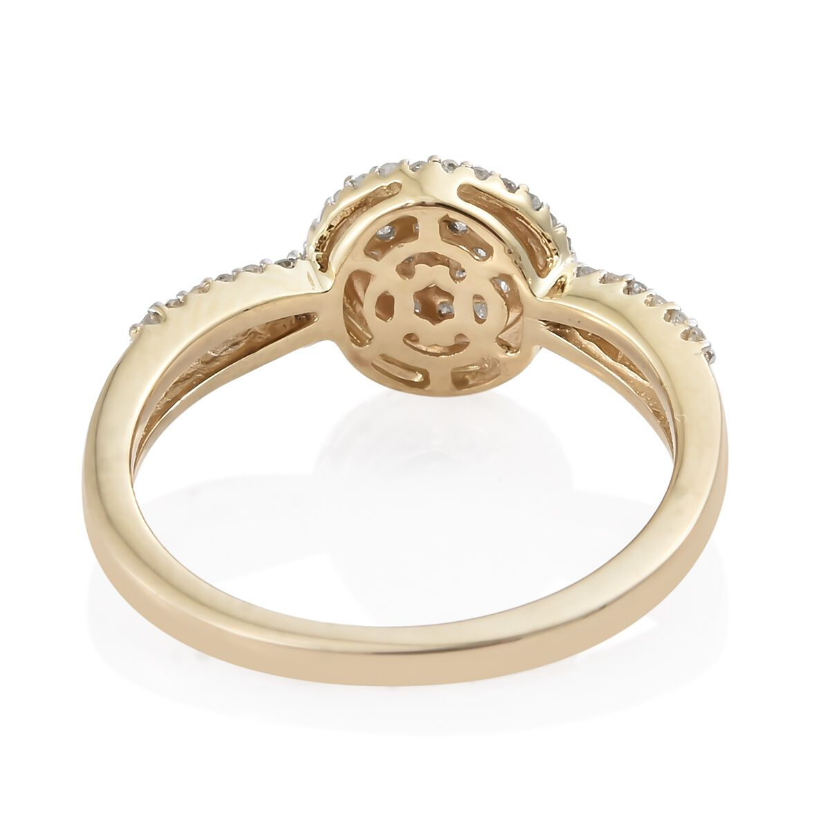 9K Yellow Gold Diamond Ring 0.330 Ct cByODm