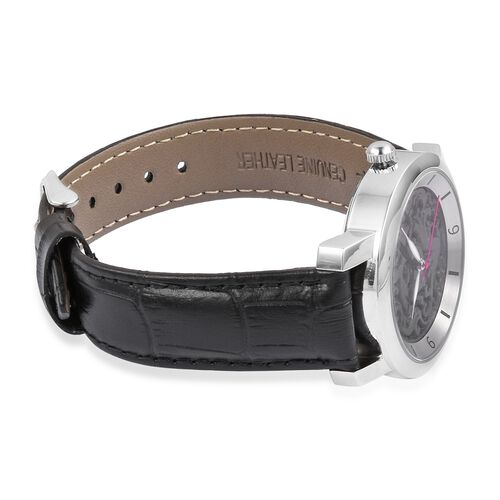 Last in Stock - EON 1962 Swiss Movement Black Jade Dial 3ATM Water Resistent Watch with Genuine Leather Strap 25.000 Ct.