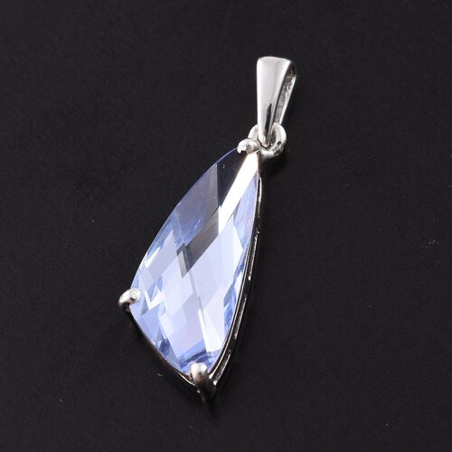 J Francis Crystal from Swarovski - Provence Lavender Crystal Pendant in Platinum Overlay Sterling Silver