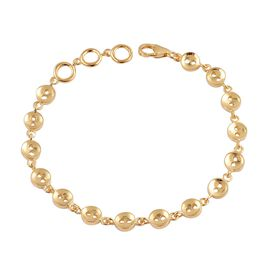 LucyQ Button Bracelet (Size 7.5) in Yellow Gold Overlay Sterling Silver 9.69 Gms.