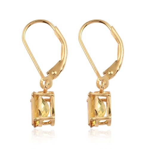 Marialite (Ovl) Lever Back Earrings in 14K Gold Overlay Sterling Silver 2.000 Ct.