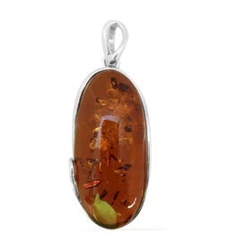 Tucson Collection Baltic Amber (Ovl) Pendant in Sterling Silver 51.000 Ct.