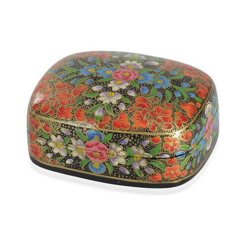 Home Decor - Multi Colour Floral Pattern Handmade Paper Mache Box