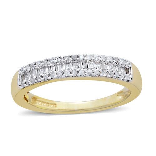Designer Inspired Diamond Eternity Ring in 14K Gold Overlay Sterling Silver 0.250 Ct.