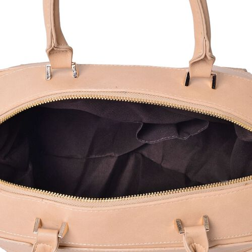 (Option 1) Anissa Beige Colour Tote Bag (Size 32x20x17 Cm)