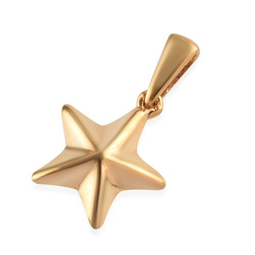 14K Gold Overlay Sterling Silver Star Pendant
