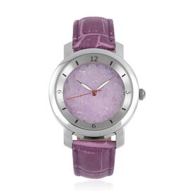 Last in Stock - EON 1962 Swiss Movement Purple Jade Dial 3ATM Water Resistent Watch with Genuine Leather Strap 25.000 Ct.