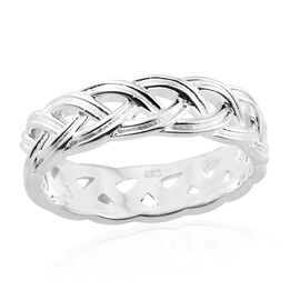 Vicenza Collection Sterling Silver Braided Band Ring, Silver wt 5.00 Gms.