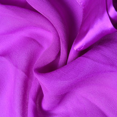 End Of Season Deall -100% Mulberry Silk Purple Colour Scarf with Satin Border (Size 160X60 Cm)