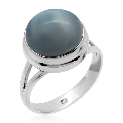 Royal Bali Collection Larimar (Rnd) Solitaire Ring in Sterling Silver 8.930 Ct.