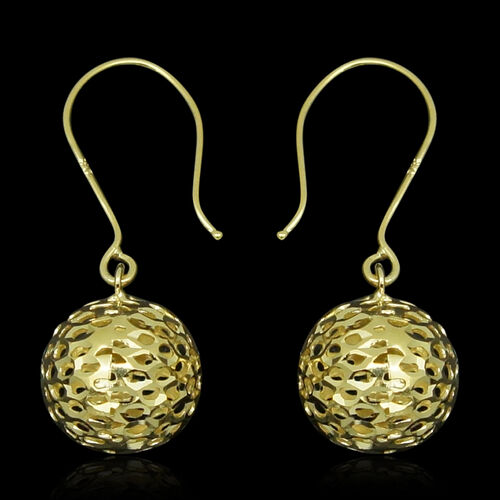 JCK Vegas Collection 9K Yellow Gold Hook Ball Earrings