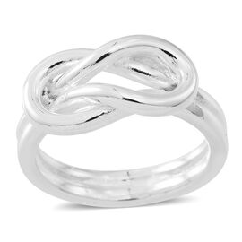 Vicenza Collection- Designer Inspired Sterling Silver Knot Ring, Silver wt 7.49 Gms.
