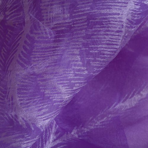 100% Mulberry Silk Purple Colour Scarf (Size 180x50 Cm)