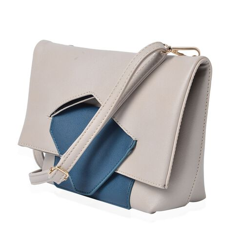 Celia Pale Grey Shoulder Bag  with Adjustable and Removable Shoulder Strap (Size 26x20x17x7 Cm)