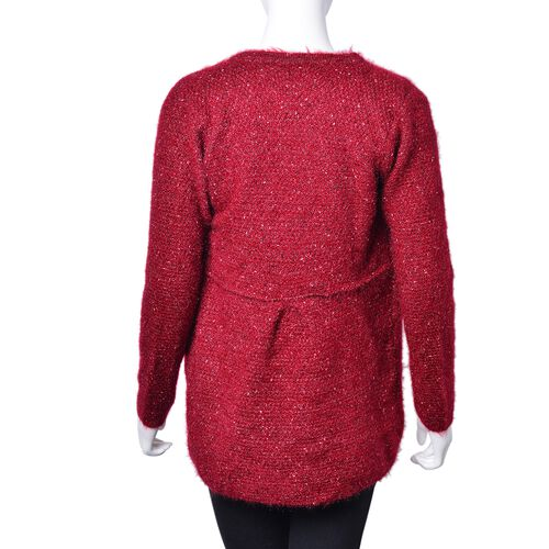 Italian Designer Inspired- Red Colour Apparel with Pockets (Size 74X45 Cm)