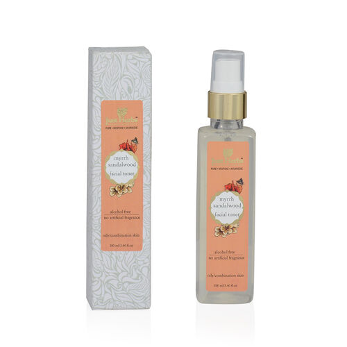 (Option 2) Just Herbs Myrrh Sandalwood Restorative Tonique (100 ml) (Oily and Combination Skin)