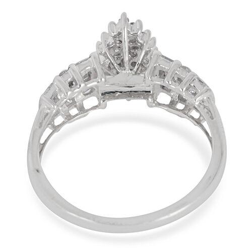 9K W Gold SGL Certified Diamond (Rnd) (I3/ G-H) Ring 0.500 Ct.