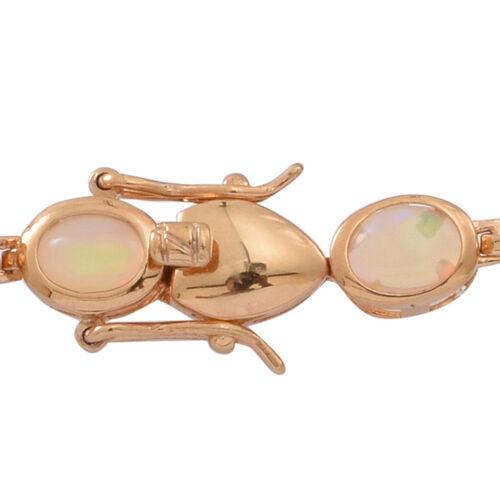Ethiopian Welo Opal (Ovl) Bracelet (Size 7.5) in 14K Gold Overlay Sterling Silver 10.000 Ct. Silver wt 10.00 Gms.