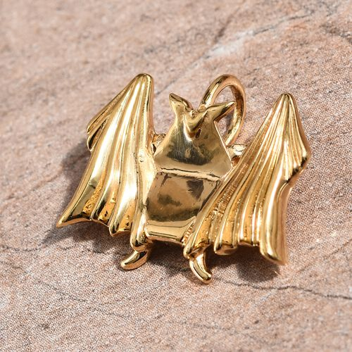 Origami Bat Silver Pendant in Gold Overlay, Silver wt 3.40 Gms.