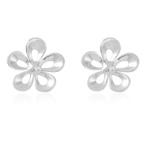 Thai Sterling Silver Floral Earrings (with Push Back)