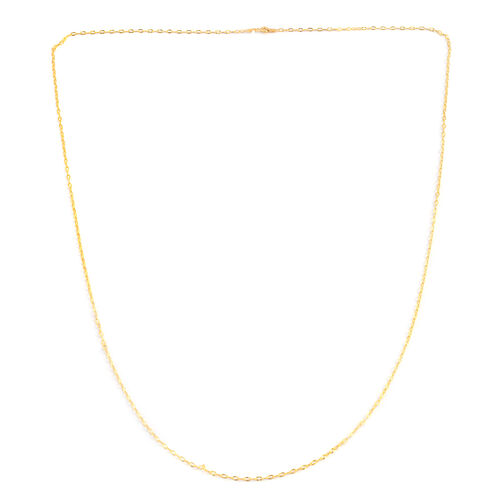 TJC Mega Deal- JCK Vegas Collection 14K Gold Overlay Sterling Silver Diamond Cut Oval Rolo Chain (Size 36), Silver wt. 3.00 Gms.
