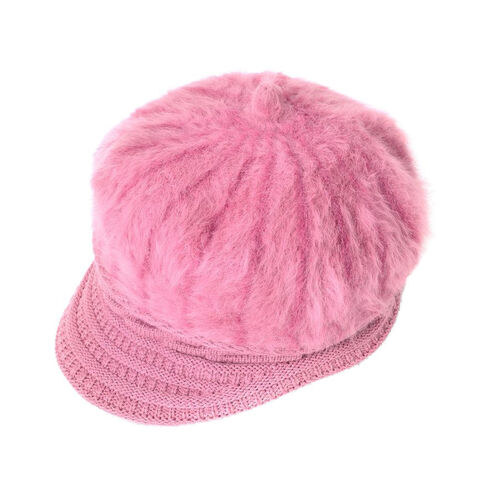 Pink Colour Knitted Newsboy Hat (Size 23X16 Cm)