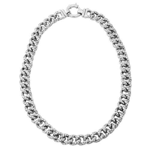 JCK Vegas Collection Sterling Silver Curb Necklace (Size 20), Silver wt. 58.03 Gms.
