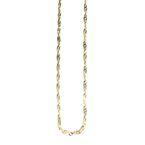Close Out Deal 9K Y Gold Twist Hammered Chain (Size 18)