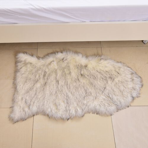 Supersoft Cream Colour Rug with Foam Inside (Size 100X60 Cm)