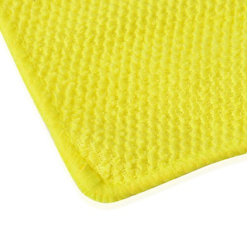 Set of 20 - Yellow Colour Double Sided, Multifunctional Microfibre Towel (Size 24x24 Cm)