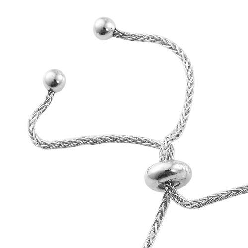 Citrine 5 Carat Silver Adjustable Bracelet in Platinum Overlay (Size 6.5 to 8.5)