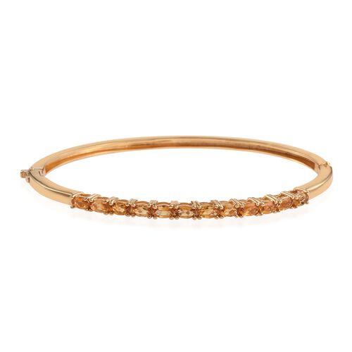 Citrine (Ovl) Bangle (Size 7.5) in ION Plated 18K Yellow Gold Bond 2.750 Ct.
