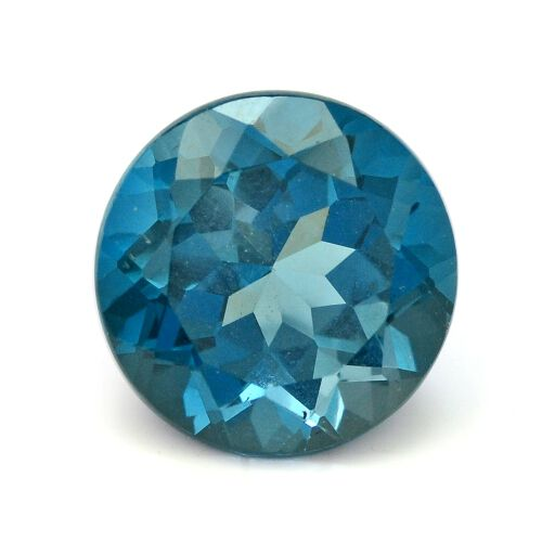 London Blue Topaz (Rnd 11 mm Faceted 2A) 5.450 Ct.