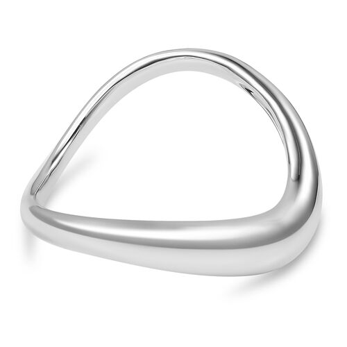 LucyQ Bangle (Size 7.5) in Rhodium Plated Sterling Silver 94.00 Gms.