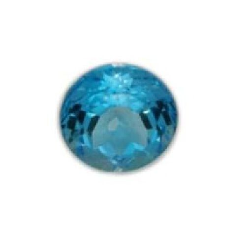 Electric Swiss Blue Topaz (Rnd 18 mm Faceted 4A) 25.000 Ct.