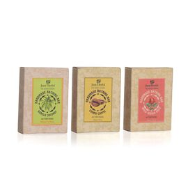 Just Herbs Set of 3 - Kerala Coconut, Coorgi Coffee and Wild Indian Coconut Soap (100 Gm)