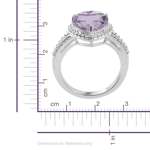 Rose De France Amethyst (Hrt) Solitaire Ring in Sterling Silver 3.250 Ct.