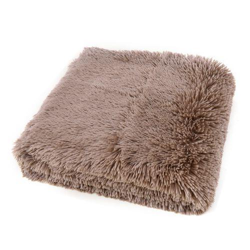 Super-Plush Extra-Long Pile Chocolate Colour YETI Blanket (Size 200X150 Cm)
