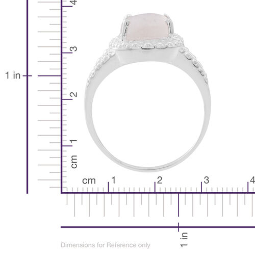 Sri Lankan Silver Moonstone (Ovl) Solitaire Ring in Sterling Silver 3.250 Ct.