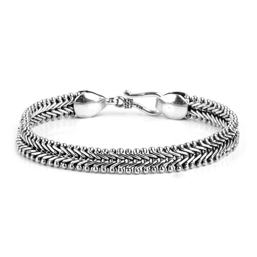 Royal Bali Collection Sterling Silver Bracelet (Size 8), Silver wt. 22.63 Gms.