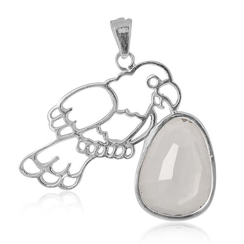 Creature Couture - Jewels of India Parrot Pendant with Pink Quartz in Sterling Silver 9.220 Ct.
