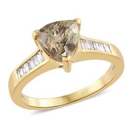 ILIANA 18K Yellow Gold 2.50 Ct AAA Diaspore, Diamond SI G-H Ring