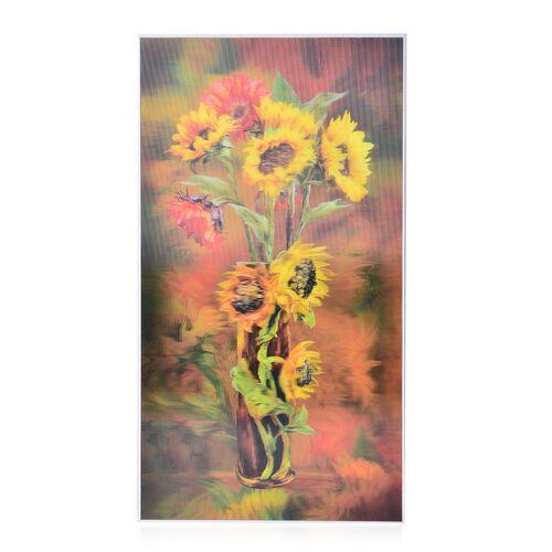 Wall Decor - Sun Flower Framed 5D Wall Painting (Size 48.5x26.5x3 Cm)