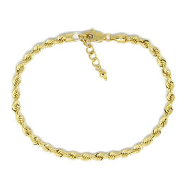 Vicenza Collection - 9K Yellow Gold Rope Bracelet (Size 7 with 1 inch Extender), Gold wt 3.11 Gms.