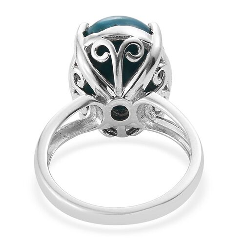 Natural Rare Opalina (Ovl) Solitaire Ring in Platinum Overlay Sterling Silver 7.000 Ct.