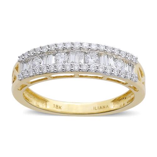ILIANA 18K Y Gold IGI Certified Diamond (SI/G-H) Ring 0.500 Ct.