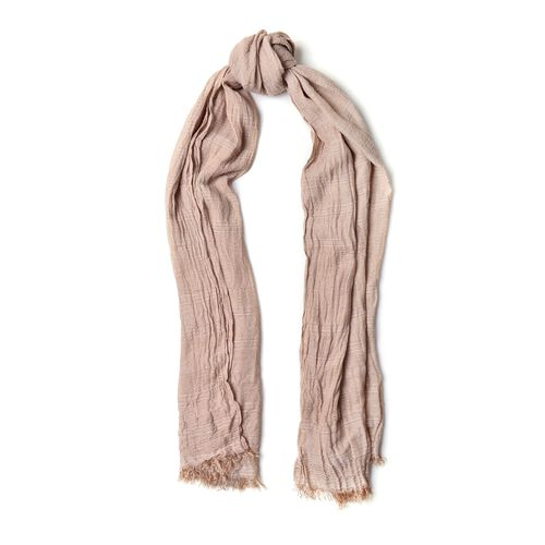 Coffee Colour Scarf (Size 200X62 Cm) with Black and Grey Colour Hat