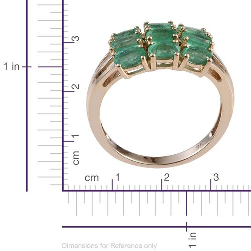 9K Yellow Gold Boyaca Colombian Emerald (Ovl) Ring 2.000 Ct.